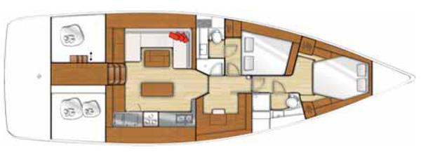 Vendita barche spazi interni come una casa beneteau sense 50