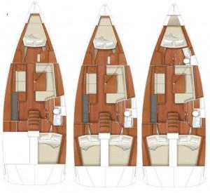 Beneteau interni dell'Oceanis 41 novità 2012